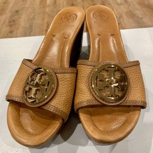Tory Burch wedge sandals.
